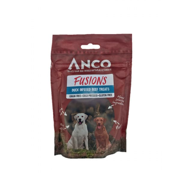 Anco Fusions Duck Infused Beef Treats