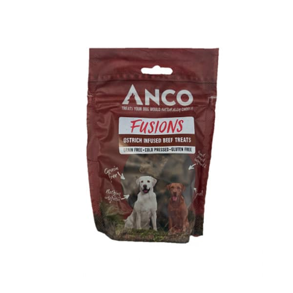 Anco Fusions Ostrich Infused Beef Treats