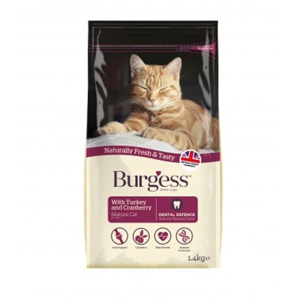 Burgess Mature Cat Turkey & Cranberry