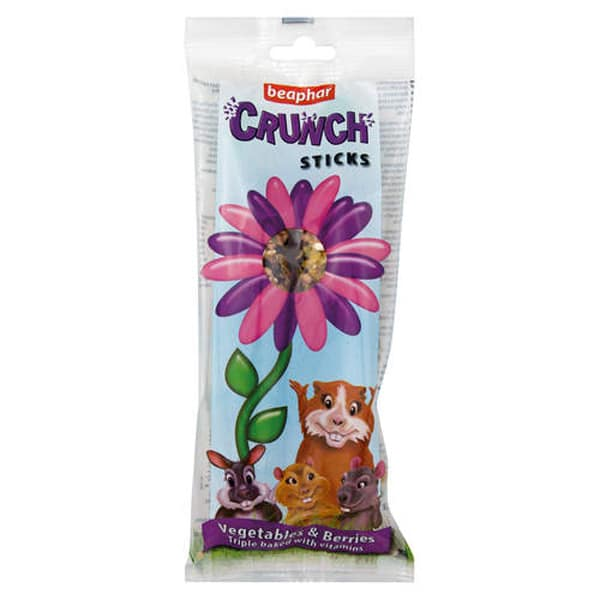 Beaphar Small Animal Crunch Sticks Vegetables & Berries