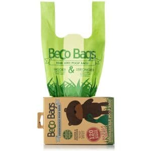Beco Bags Handle Bags 120 Strong Large Poop Bags For Dogs