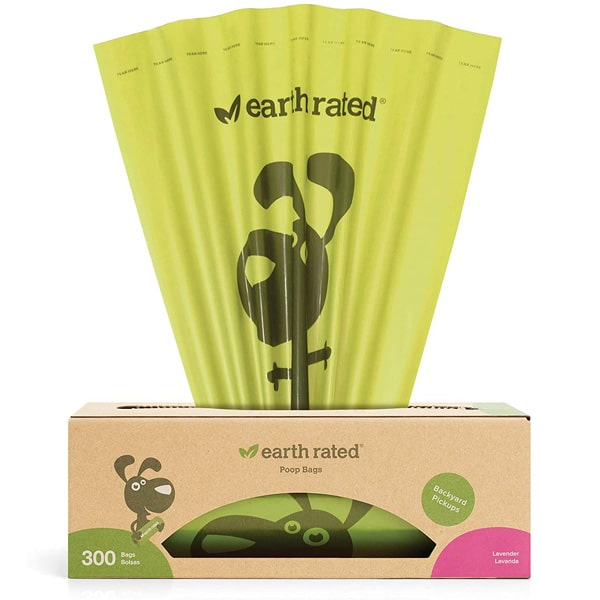 Earth Rated Backyard Pickups 300 Bags Lavender Scented