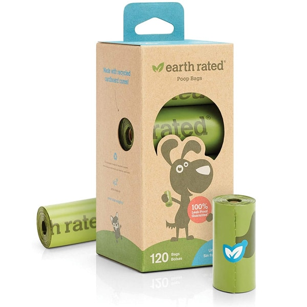 Earth Rated Dog Poop Bags 120 Extra Thick & Strong Unscented