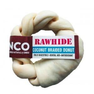 Anco Coconut Rawhide Braided Donut Medium