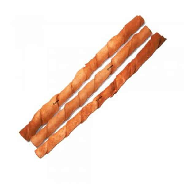 "BRAVO Peanut Butter Twisted Stick Dog Chew 10"""