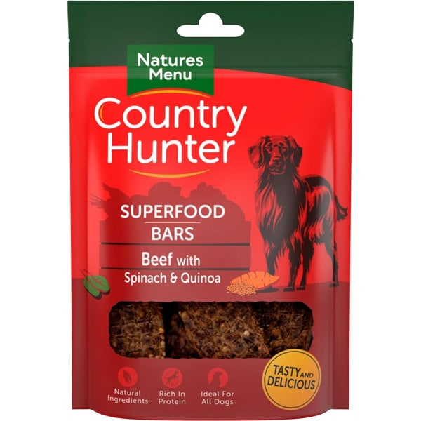 Natures Menu Country Hunter Superfood Bars Beef