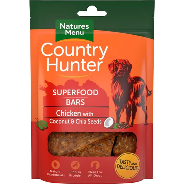 Natures Menu Country Hunter Superfood Bars Chicken