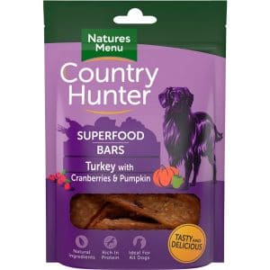 Natures Menu Country Hunter Superfood Bars Turkey
